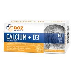 Calcium + D3, 60 tabletek