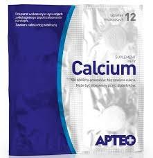 Calcium w folii APTEO, 12 tabletek musujących
