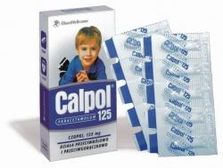 CALPOL 125 MG, 10 CZOPKÓW