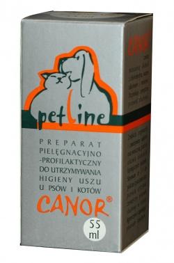 CANOR® Płyn do czyszczenia uszu, buteleczki po 55 ml z zakraplaczem