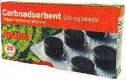 Carboadsorbent, Imuna Pharm, tabletki, 250 mg, 20 szt