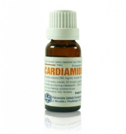 Cardiamidum, krople doustne, (250 mg ml), 15 ml