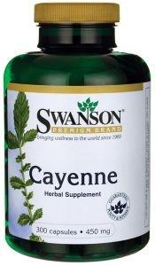 SWANSON Cayenne (Capsicum_ Kapsaicyna) 450 mg - 300 kapsułek
