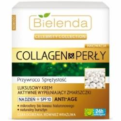 Celebrity Collection Collagen & Perły Luksusowy krem aktywnie wypełniający zmarszczki na dzień SPF 10 ANTI-AGE, krem