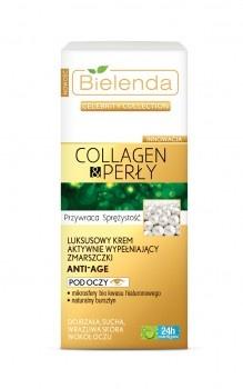 Celebrity Collection Collagen & Perły Luksusowy krem aktywnie wypełniający zmarszczki pod oczy ANTI-AGE, krem