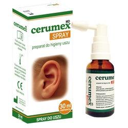 Cerumex MD, spray do higieny uszu, 30 ml