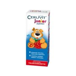 Cerutin Junior truskawka, (Ceruvit Junior Polfarmex), syrop, 120 ml