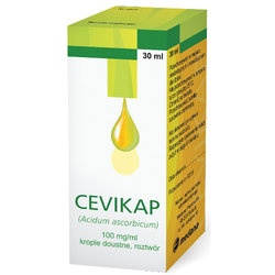 Cevikap (Vitaminum C), krople, (100 mg  ml), 30 ml, w butelce