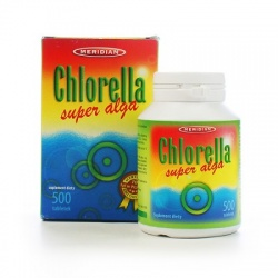 Chlorella, tabletki z prasowanymi algami, 500 szt