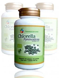 Chlorella Pyrenoidosa, 400mg, 240 tabletek