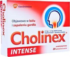 Cholinex Intense, tabletki do ssania, smak jezynowy, 20 szt