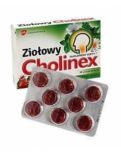 Cholinex ziołowy, pastylki do ssania o smaku dzikiej rózy, 16szt