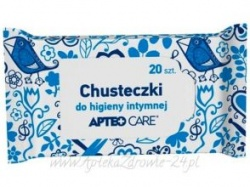 APTEO CARE, Chusteczki do higieny intymnej, 20 sztuk