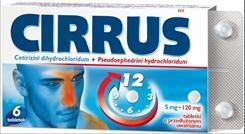 Cirrus, 6 tabletek