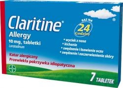 Claritine Allergy, 7 tabletek