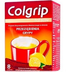 Colgrip Hot Activ, proszek, 8 saszetek