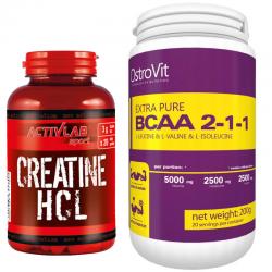 Creatine HCL + Extra Pure BCAA 200