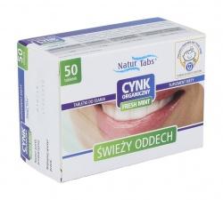 Cynk Organiczny Naturtabs Fresh Mint, tabletki, 50 sztuk