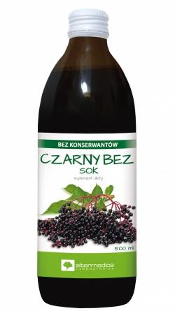 Czarny bez, sok, (Alter Medica), 500 ml