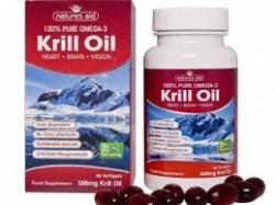 Czysty olej z kryla 60 sztuk Natures Aid