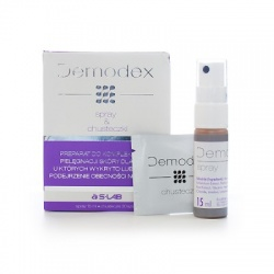 Demodex, spray + chusteczki, 15 ml + 30 szt