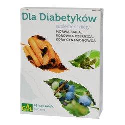 Dla Diabetyków, kapsułki, morwa, borówka, kora cynamonu, 48 szt