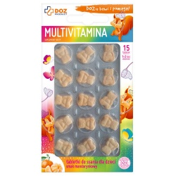Multivitamina, tabletki do ssania dla dzieci, 15 szt