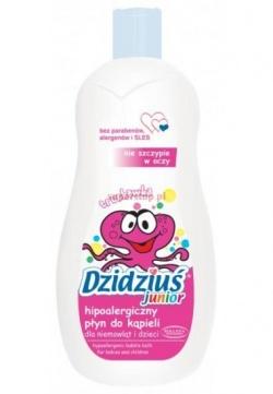 Hipoalergiczny płyn do kąpieli DZIDZIUŚ junior o zapachu truskawki, 500 ml