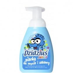 Pianka do mycia i zabawy DZIDZIUŚ Junior o zapachu truskawkowym, 265 ml