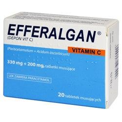Efferalgan Vitamin C, tabletki musujące, 20 szt