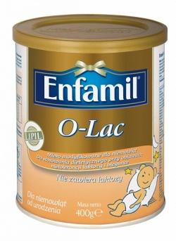 Enfamil O-Lac, mleko modyfikowane, nietolerancja laktozy, biegunka, 400 g