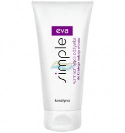 Eva Simple to odżywka do włosów z keratyną o działaniu wzmacniającym