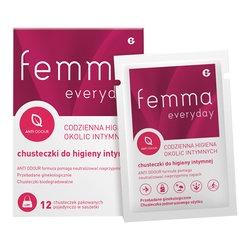 Femma Everyday, chusteczki do higieny intymnej, 12 szt