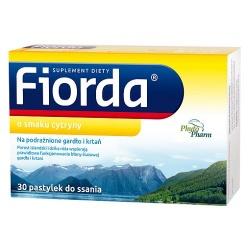 Fiorda, pastylki do ssania o smaku cytryny, 30 szt