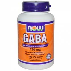NOW - GABA 750 mg - 100 vcaps