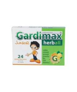 Gardimax Herball Junior, pastylki do ssania, 24 szt
