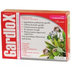 Gardlox, pastylki do ssania, ziołowe o smaku truskawkowym, 16 szt