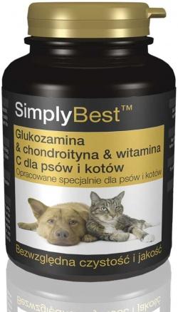 Glukozamina & Chondroityna & Witamina C dla psów i kotów, 120 tabletek