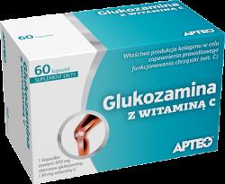APTEO, Glukozamina z witaminą C, 60 kapsułek