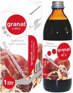 Naturalny sok z granatu 1000 ml z witaminą C