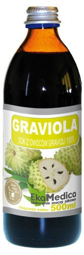 GRAVIOLA Sok z owoców Gravioli 100% 500ml