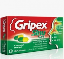 Gripex® SinuCaps, 10 kapsułek
