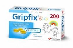 Gripfix Kids 200mg kapsułki miękkie (24 kapsułki)