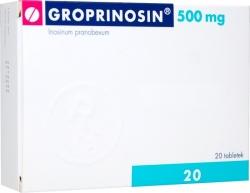 Groprinosin, 500mg, tabletki, 20szt