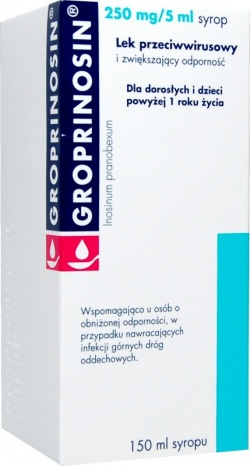 GROPRINOSIN syrop 250mg5ml 150ml