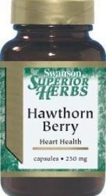 Swanson Premium Hawthorn Berries 565mg - ekstrakt z głogu, 250 kapsułek