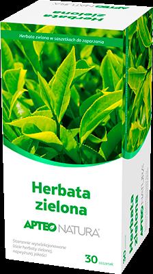 APTEO NATURA, Herbata zielona, 30 saszetek