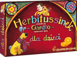 HERBITUSSINEK GARDŁO DLA DZIECI X 6 PASTYLEK