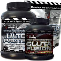 HI TEC - Hi-Tec Protein + Glutafusion - 2250g + 1000g + 200kaps