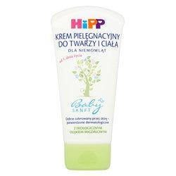 HiPP Babysanft, krem pielęgnacyjny do twarzy i ciała dla niemowląt od 1 dnia życia, 75 ml